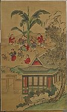 Three Various Korean Silk Paintings