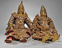 Pair Old Southeast Asian Stringed Puppets
