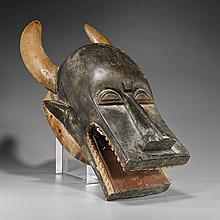 Old African Carved & Painted Wood Mask