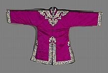 Old Chinese Royal Purple Silk Jacket