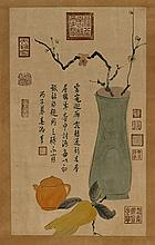 Two Chinese Unmounted Scrolls: Still Life Scenes