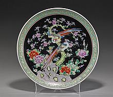 Antique Japanese Enameled Porcelain Dish