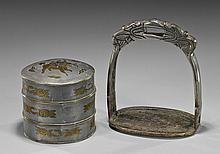 Two Antique Chinese Metalwork Items
