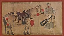 Chinese Framed Print: Warrior with Horse