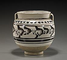 Chinese Cizhou-Type Glazed Ceramic Jar