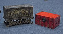 Two Small Chinese Lacquer Chests