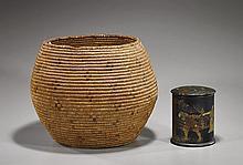 Large Woven Basket & Lacquer Box