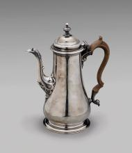 ANTIQUE GEORGE II STERLING COFFEE POT