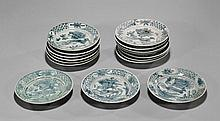 Sixteen Ming Dynasty Swatow Plates