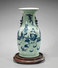 Antique Chinese Blue & White Vase
