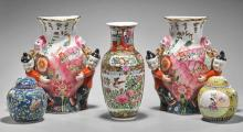 Five Various Chinese Enameled Porcelains