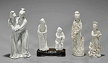 Five Chinese Blanc de Chine Figures
