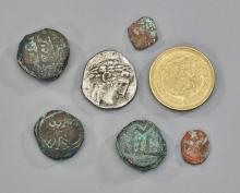 Seven Antique Middle Eastern Coins