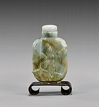 CARVED JADEITE SNUFF BOTTLE