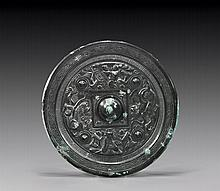 HAN-STYLE SILVERED BRONZE MIRROR