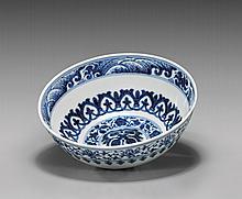 YONGZHENG BLUE & WHITE PORCELAIN BOWL