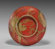 ANTIQUE JAPANESE RED LACQUER TRAY