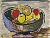 FRUIT IN A BOWL PAINTING BY WEBER, Max Weber, $1,500