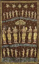 ANTIQUE INDIAN PAINTED TAPESTRY