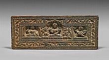 ANTIQUE TIBETAN CARVED WOOD PANEL