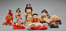 Eight Dolls: Porcelain & Paper