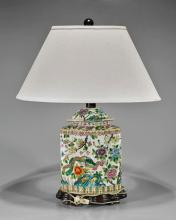 Antique Chinese Famille Rose Lamp