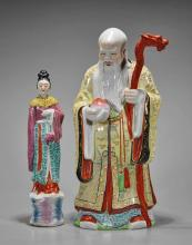 Two Chinese Famille Rose Figures