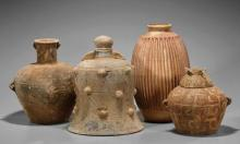 Four Chinese Painted Pottert Vessels