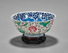 Chinese Enameled Porcelain Lotus Bowl