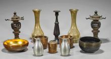 Twelve Various Old & Antique Asian Metalworks