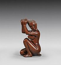 WOOD NETSUKE BY BRAD BLAKELY: Nude