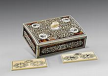 ANTIQUE IVORY & TORTOISESHELL GAMBLERS' BOX