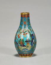 Qianlong-Style Cloisonné Enamel Snuff Bottle