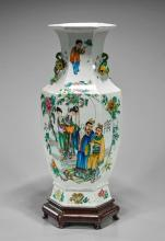 Tall Chinese Famille Rose Vase