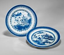 Two Antique Chinese Porcelain Plates