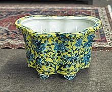 Chinese Yellow Ground Porcelain Planter