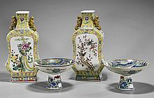 Two Pairs Chinese Porcelains