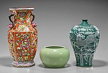 Three Chinese Porcelains Vases
