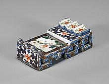 Old Chinese Enameled Porcelain Brushrest