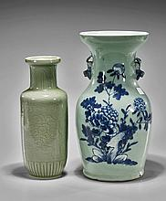 Two Chinese Porcelain Floral Vases