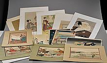 Eighteen Various Japanese Prints