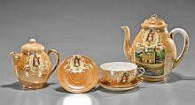 Six Continental Religious Porcelain Tea Set