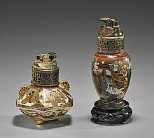 Two Old Japanese Satsuma Glazed Vessels