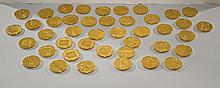 Set of 42 Gilt Bronze Medals: Classical Art