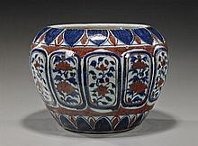 Large Chinese Underglaze Porcelain Jardinière