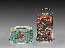 Two Chinese Vessels: Cloisonné and Porcelain