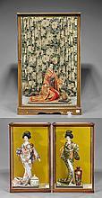Three Old Japanese Geisha Dolls