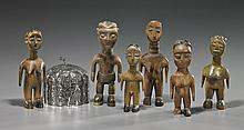 6 African Figures & Middle Eastern Box