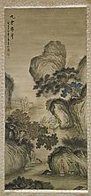 Two Chinese Paper Landscape Scrolls