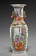Old Chinese Rose Medallion Porcelain Vase